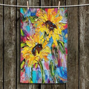 Unique Hanging Tea Towels | Karen Tarlton - Sunflower Joy | Flowers