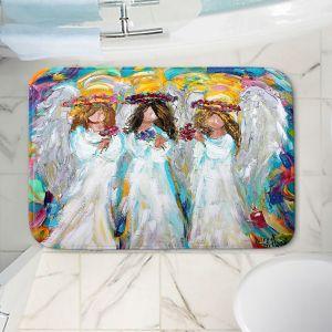 Decorative Bathroom Mats | Karen Tarlton - Three Spring Angels | People Spiritual