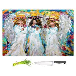 Artistic Kitchen Bar Cutting Boards | Karen Tarlton - Three Spring Angels | People Spiritual