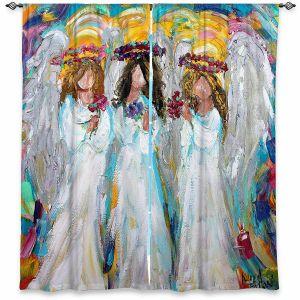 Decorative Window Treatments | Karen Tarlton - Three Spring Angels | People Spiritual