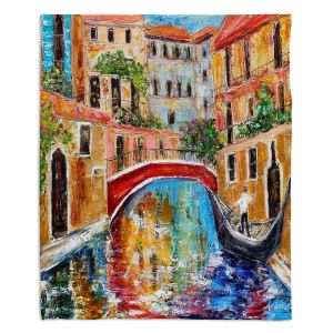 Decorative Fleece Throw Blankets | Karen Tarlton - Venice Magic II