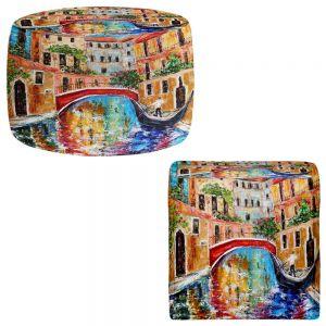 Round and Square Ottoman Foot Stools | Karen Tarlton - Venice Magic II