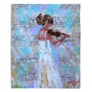 Decorative Fleece Throw Blankets | Karen Tarlton - Violin Lesson | Orcheastra Ballerina