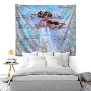 Artistic Wall Tapestry   Karen Tarlton - Violin Lesson   Orcheastra Ballerina