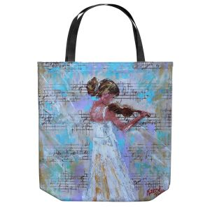 Unique Shoulder Bag Tote Bags | Karen Tarlton - Violin Lesson | Orcheastra Ballerina