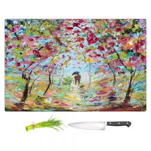 Artistic Kitchen Bar Cutting Boards | Karen Tarlton - Walk in the Park | Landscape trees path nature