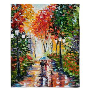 Decorative Fleece Throw Blankets | Karen Tarlton - Walking the Dog