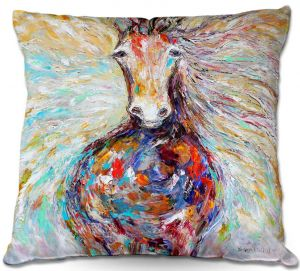 Throw Pillows Decorative Artistic | Karen Tarlton Wild Horse Run