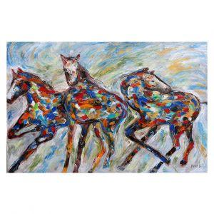 Decorative Floor Covering Mats | Karen Tarlton - Wild Mustangs | Horse nature animal