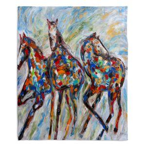 Artistic Sherpa Pile Blankets   Karen Tarlton - Wild Mustangs   Horse nature animal