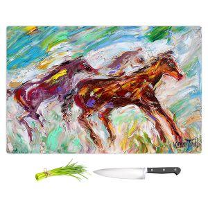 Artistic Kitchen Bar Cutting Boards | Karen Tarlton - Wild Mustangs Horses | Animals Horses Nature