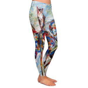 Casual Comfortable Leggings | Karen Tarlton - Wild Mustangs | Horse nature animal