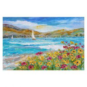 Decorative Floor Covering Mats | Karen Tarlton - Wildflowers Sea | Mountain Sailing Sailboat