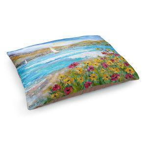 Decorative Dog Pet Beds | Karen Tarlton - Wildflowers Sea | Mountain Sailing Sailboat
