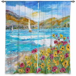 Decorative Window Treatments | Karen Tarlton - Wildflowers Sea | Mountain Sailing Sailboat