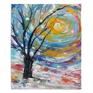 Decorative Fleece Throw Blankets | Karen Tarlton - Winter Poetry