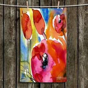 Unique Hanging Tea Towels | Kathy Stanion - Abstract Florals 38 | Flowers Nature Abstract