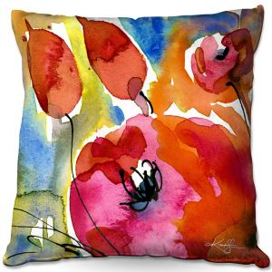 Throw Pillows Decorative Artistic | Kathy Stanion - Abstract Florals 38 | Flowers Nature Abstract