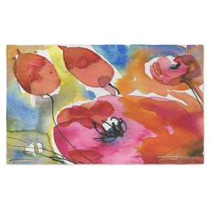Artistic Pashmina Scarf | Kathy Stanion - Abstract Florals 38 | Flowers Nature Abstract