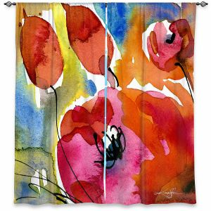 Decorative Window Treatments   Kathy Stanion - Abstract Florals 38   Flowers Nature Abstract