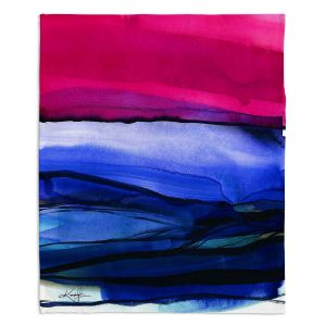Decorative Fleece Throw Blankets | Kathy Stanion - Abstraction XXIII