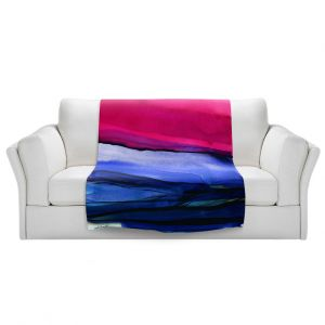 Artistic Sherpa Pile Blankets | Kathy Stanion - Abstraction XXIII