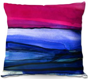 Decorative Outdoor Patio Pillow Cushion | Kathy Stanion - Abstraction XXIII