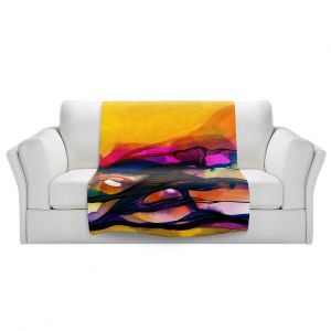 Artistic Sherpa Pile Blankets | Kathy Stanion - Abstraction XXVI