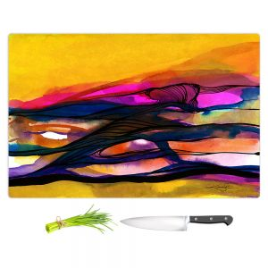 Artistic Kitchen Bar Cutting Boards | Kathy Stanion - Abstraction XXVI