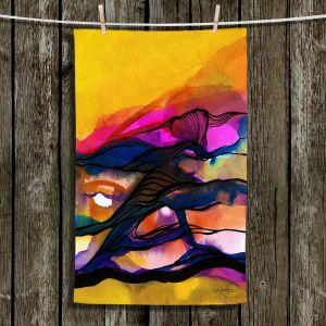 Unique Hanging Tea Towels | Kathy Stanion - Abstraction XXVI | Abstract Colorful