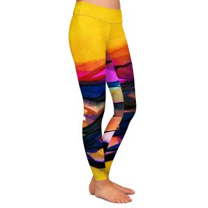 Casual Comfortable Leggings | Kathy Stanion - Abstraction XXVI