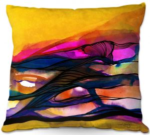 Decorative Outdoor Patio Pillow Cushion | Kathy Stanion - Abstraction XXVI