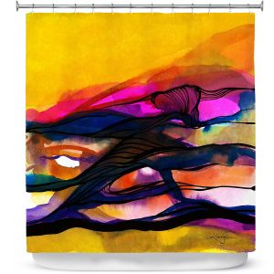 Premium Shower Curtains | Kathy Stanion - Abstraction XXVI