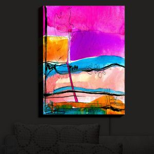 Nightlight Sconce Canvas Light | Kathy Stanion - Abstraction XXVII | Abstract Colorful