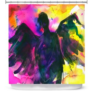 Premium Shower Curtains | Kathy Stanion Angel 21