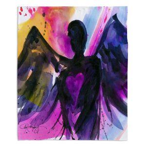 Decorative Fleece Throw Blankets   Kathy Stanion - Angel 25