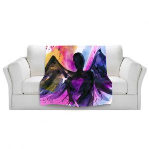 Artistic Sherpa Pile Blankets | Kathy Stanion Angel 25