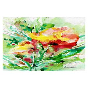 Decorative Floor Covering Mats | Kathy Stanion - Blooming Joy | Flowers Nature Abstract