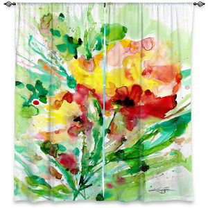Decorative Window Treatments | Kathy Stanion - Blooming Joy | Flowers Nature Abstract