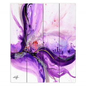 Decorative Wood Plank Wall Art | Kathy Stanion - Blooming Wonder 1 | Flowers Nature Abstract