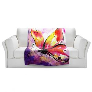 Artistic Sherpa Pile Blankets   Kathy Stanion - Butterfly Abstract