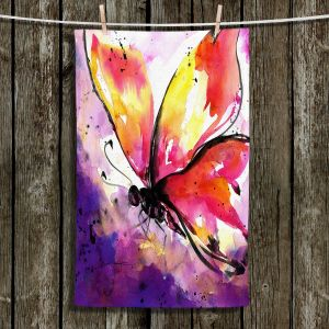 Unique Bathroom Towels | Kathy Stanion - Butterfly Abstract