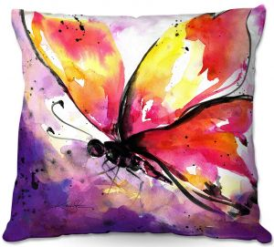 Decorative Outdoor Patio Pillow Cushion | Kathy Stanion - Butterfly Abstract
