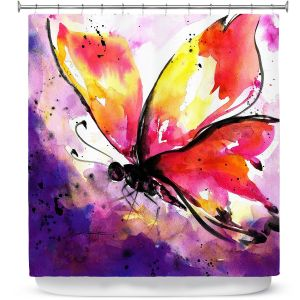 Premium Shower Curtains | Kathy Stanion - Butterfly Abstract