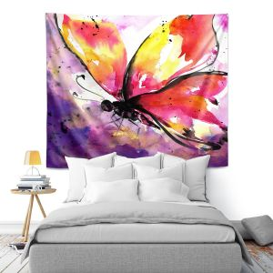 Artistic Wall Tapestry | Kathy Stanion - Butterfly Abstract