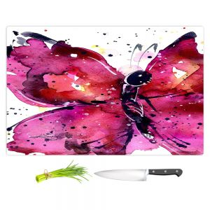 Artistic Kitchen Bar Cutting Boards | Kathy Stanion - Butterfly Delight XV