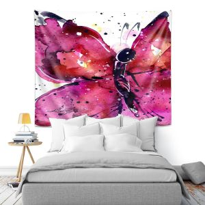 Unique Wall Tapestry 51X60 from DiaNoche Designs by Kathy Stanion - Butterfly Delight XV