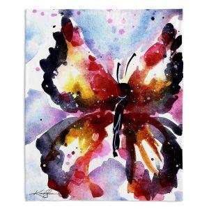 Decorative Fleece Throw Blankets | Kathy Stanion - Butterfly Delight XVIII