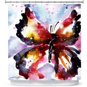 Premium Shower Curtains | Kathy Stanion - Butterfly Delight XVIII
