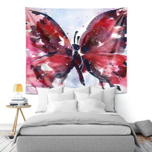 Artistic Wall Tapestry | Kathy Stanion - Butterfly Delight IX